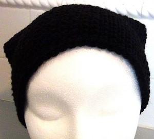 Black Slouch Crocheted Hat 4