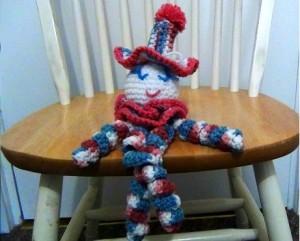 Clown Doll Pinky Blue 2