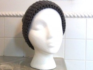 Crocheted Hat - Gray Slouch 4