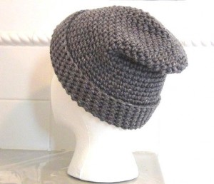 Crocheted Hat - Gray Slouch 5