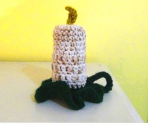 Flameless Candle Holiday Crochet 2