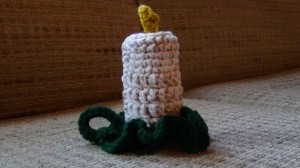 Flameless Candle Holiday Crochet 3