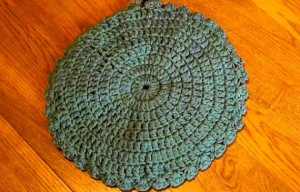 Hot Pad - Trivet Holiday or Any Day - Maroon and Sage 5