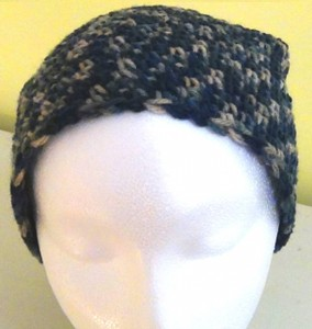 Slouch Hat - Blue Green Beige Variegated Camouflage 2