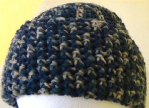 Slouch Hat - Blue Green Beige Variegated Camouflage 4