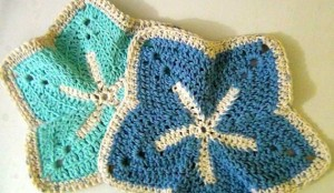 Washcloth Starfish - Set of 2 - Sky Blue Ocean Blue 2