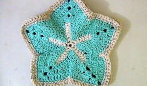 Washcloth Starfish - Set of 2 - Sky Blue Ocean Blue 3