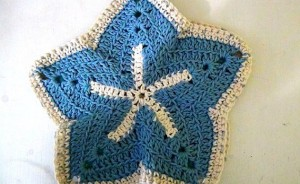 Washcloth Starfish - Set of 2 - Sky Blue Ocean Blue 4