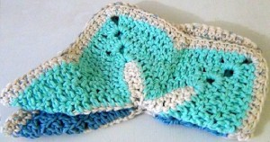 Washcloth Starfish - Set of 2 - Sky Blue Ocean Blue 5