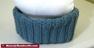 Fitted Cowl Neckwarmer - Blue 3