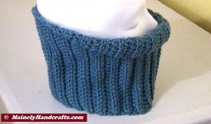 Fitted Cowl Neckwarmer - Blue 4