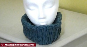 Fitted Cowl Neckwarmer - Blue 5