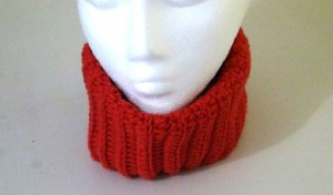 Neckwarmer - Fitted Cowl - Rouge Red