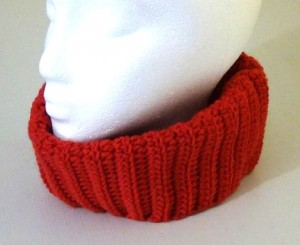 Neckwarmer - Fitted Cowl - Rouge Red 5