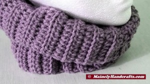 Fitted Cowl - Lavender Purple Neckwarmer 2