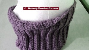 Fitted Cowl - Lavender Purple Neckwarmer 3