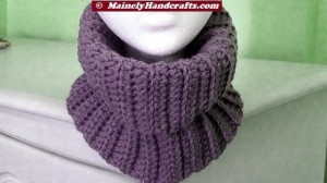 Fitted Cowl - Lavender Purple Neckwarmer
