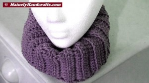 Fitted Cowl - Lavender Purple Neckwarmer 4