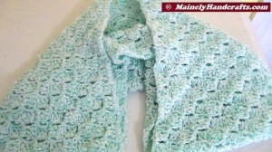 Infinity Scarf Mint Green - Crocheted Cowl - Womens Snood 3