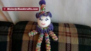 Clown Doll - Easter Clown Doll - Spring Clown Doll - Spiral Clown Doll 2