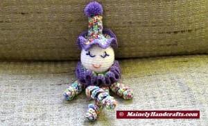 Clown Doll - Easter Clown Doll - Spring Clown Doll - Spiral Clown Doll 3