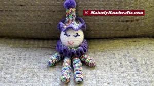 Clown Doll - Easter Clown Doll - Spring Clown Doll - Spiral Clown Doll