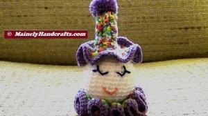 Clown Doll - Easter Clown Doll - Spring Clown Doll - Spiral Clown Doll 4