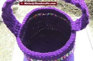 Easter Basket - Crochet Basket for Spring - Purple Basket 5