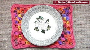 Rectangle Placemats - Crochet Placemats - Set of 4