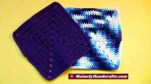 Crochet Dish Cloth - Crochet Wash Cloth - Cotton Face Cloth - Set of 2