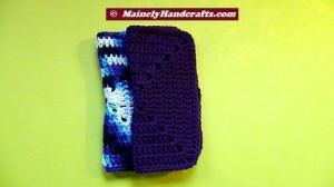 Crochet Dish Cloth - Crochet Wash Cloth - Cotton Face Cloth - Set of 2 5