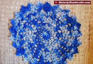 Doilies - Crochet Doilies - Blue Doilies - Table Doily set of 2 2