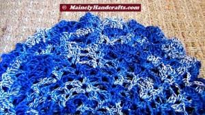 Doilies - Crochet Doilies - Blue Doilies - Table Doily set of 2 4