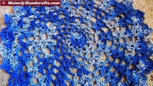Doilies - Crochet Doilies - Blue Doilies - Table Doily set of 2 5