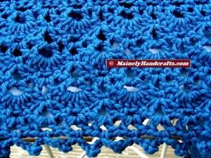 Summer Wrap - Crocheted Wrap - Denim Blue Shawl - Peacock Blue 5