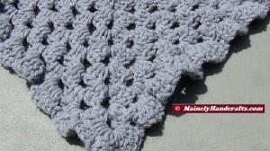 Womens Shawl, Granny Shawl, Fashion Shawl, Triangle Shawl, Crocheted Gray Wrap 5