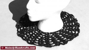 Doily - Black and Silver Doily - Crochet Doily - Halloween Doily - Spider Web Doily 2