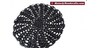 Doily - Black and Silver Doily - Crochet Doily - Halloween Doily - Spider Web Doily 3