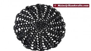Doily - Black and Silver Doily - Crochet Doily - Halloween Doily - Spider Web Doily