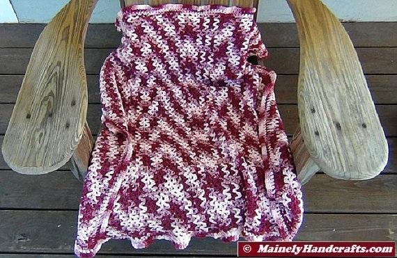 Stadium Blanket V Stitch Crochet Blanket Lap Blanket Baby Afghan