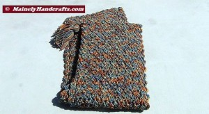 Hooded Scarf - Crochet Scarf and Hood - Tassled Scoodie - Woodland Earth Tones 2