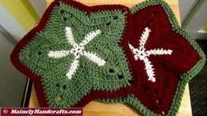 Washcloths - Set of 2 Starfish Holiday Wash Cloths - Crochet Wash Cloth - Bath Accessory - Cotton Facecloth