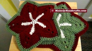 Washcloths - Set of 2 Starfish Holiday Wash Cloths - Crochet Wash Cloth - Bath Accessory - Cotton Facecloth 5