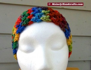 Headband - Crochet Headband - Handmade Rainbow Headband Mainely Handcrafts 3