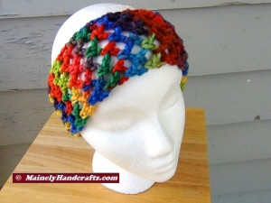 Headband - Crochet Headband - Handmade Rainbow Headband Mainely Handcrafts