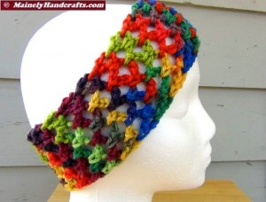 Headband - Crochet Headband - Handmade Rainbow Headband Mainely Handcrafts 4