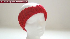 Crochet Headband - Vibrant Red Headband - Ear Warmer - Twisted Turban Head Band 3
