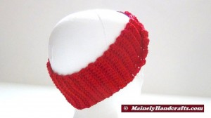 Crochet Headband - Vibrant Red Headband - Ear Warmer - Twisted Turban Head Band 4