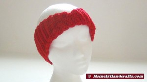 Crochet Headband - Vibrant Red Headband - Ear Warmer - Twisted Turban Head Band 5