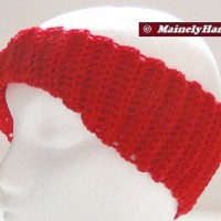 Crochet Headband - Vibrant Red Headband - Ear Warmer - Twisted Turban Head Band THUMB